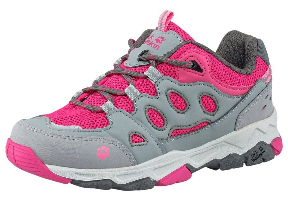 Jack Wolfskin »Mountain Attack 2 Low« Outdoorschuh in hellgrau-pink