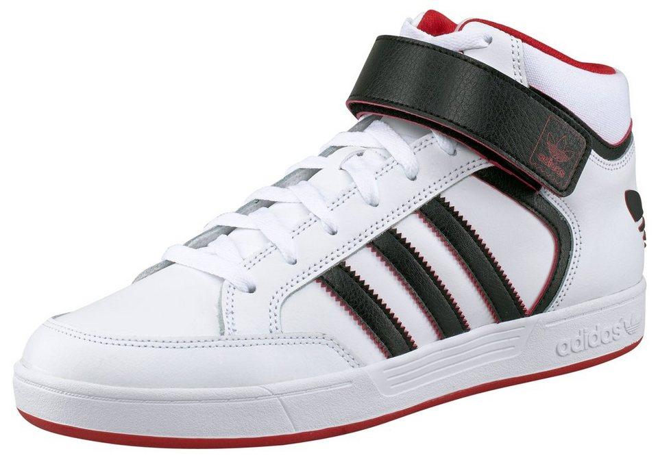 adidas Originals Varial Mid M Sneaker in Weiß-Schwarz-Rot