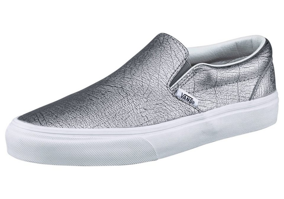 Vans Classic Slip-On W Sneaker in Silberfarben