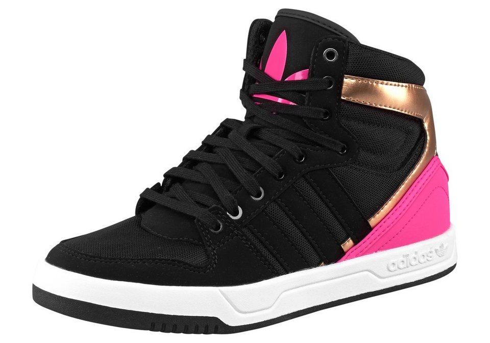 adidas Originals Court Attitude K Sneaker in Schwarz-Pink