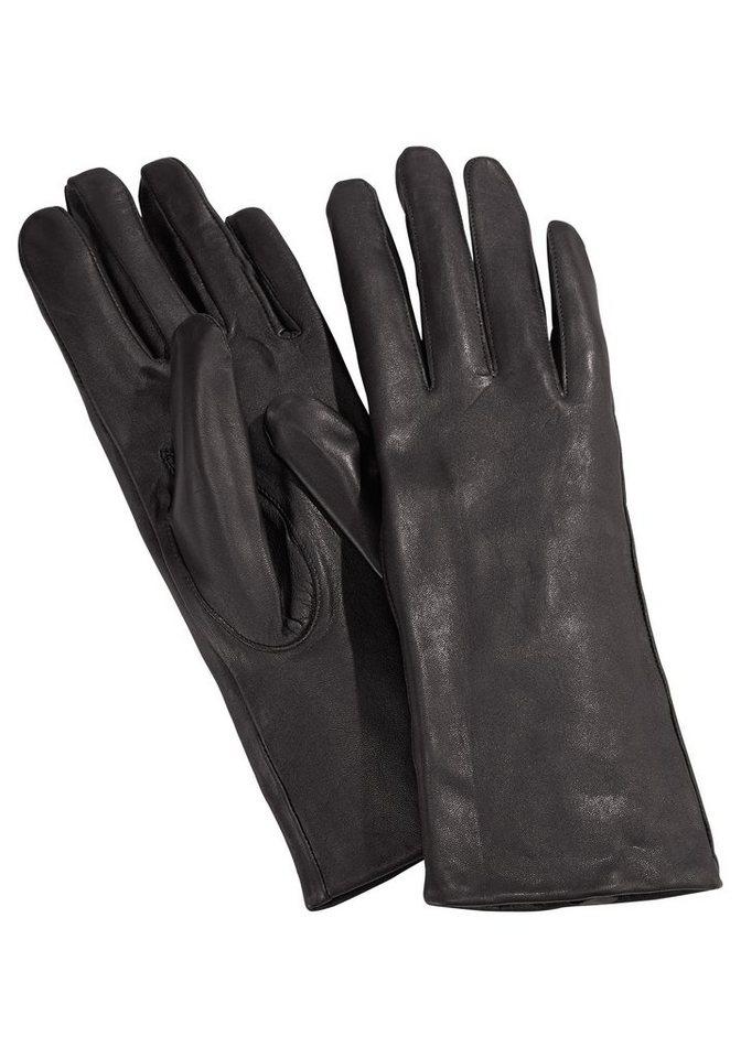 J. Jayz Lederhandschuhe in schmaler Form in dunkelbraun