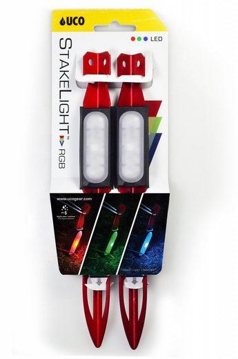 UCO Zeltzubehör »Zelthering mit LED RGB 23cm 2er Pack«