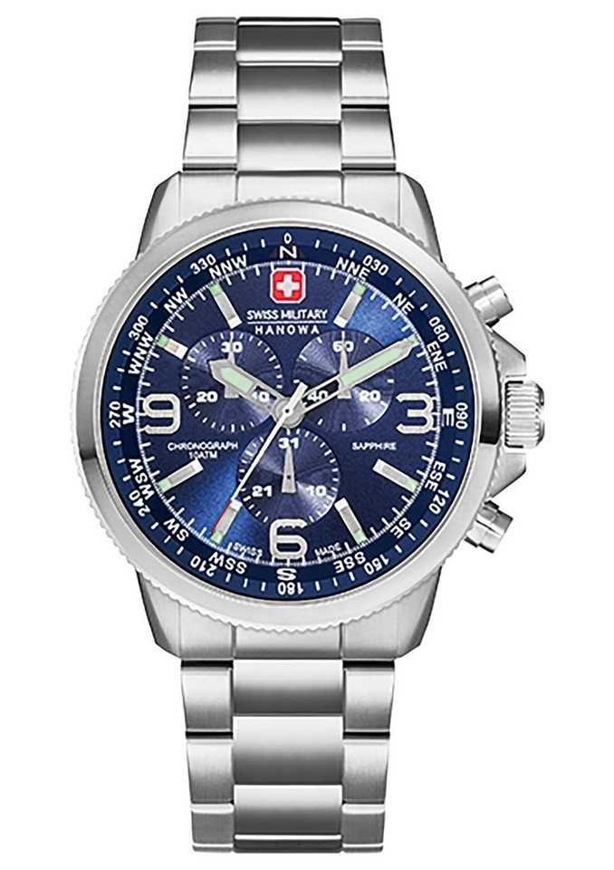 "Swiss Military Hanowa, Chronograph, ""ARROW CHRONO, 06-5250.04.003"" in silberfarben-blau"