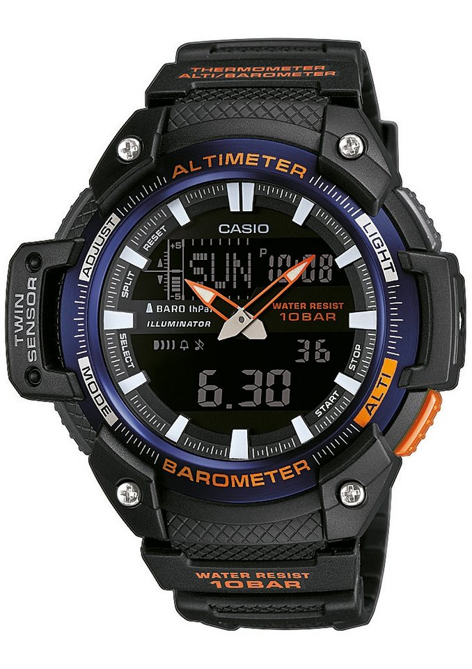 "Casio Collection, Chronograph, ""SGW-450H-2BER"" in schwarz"
