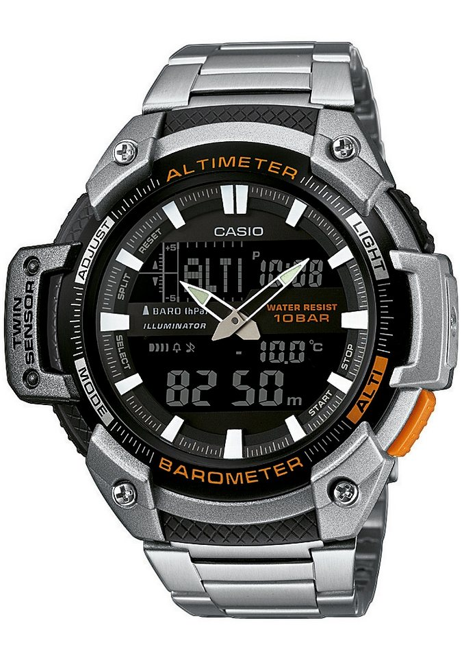 Casio Collection Chronograph »SGW-450HD-1BER« in silberfarben
