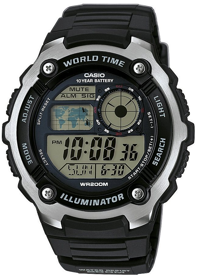 "Casio Collection, Chronograph, ""AE-2100W-1AVEF"" in schwarz"