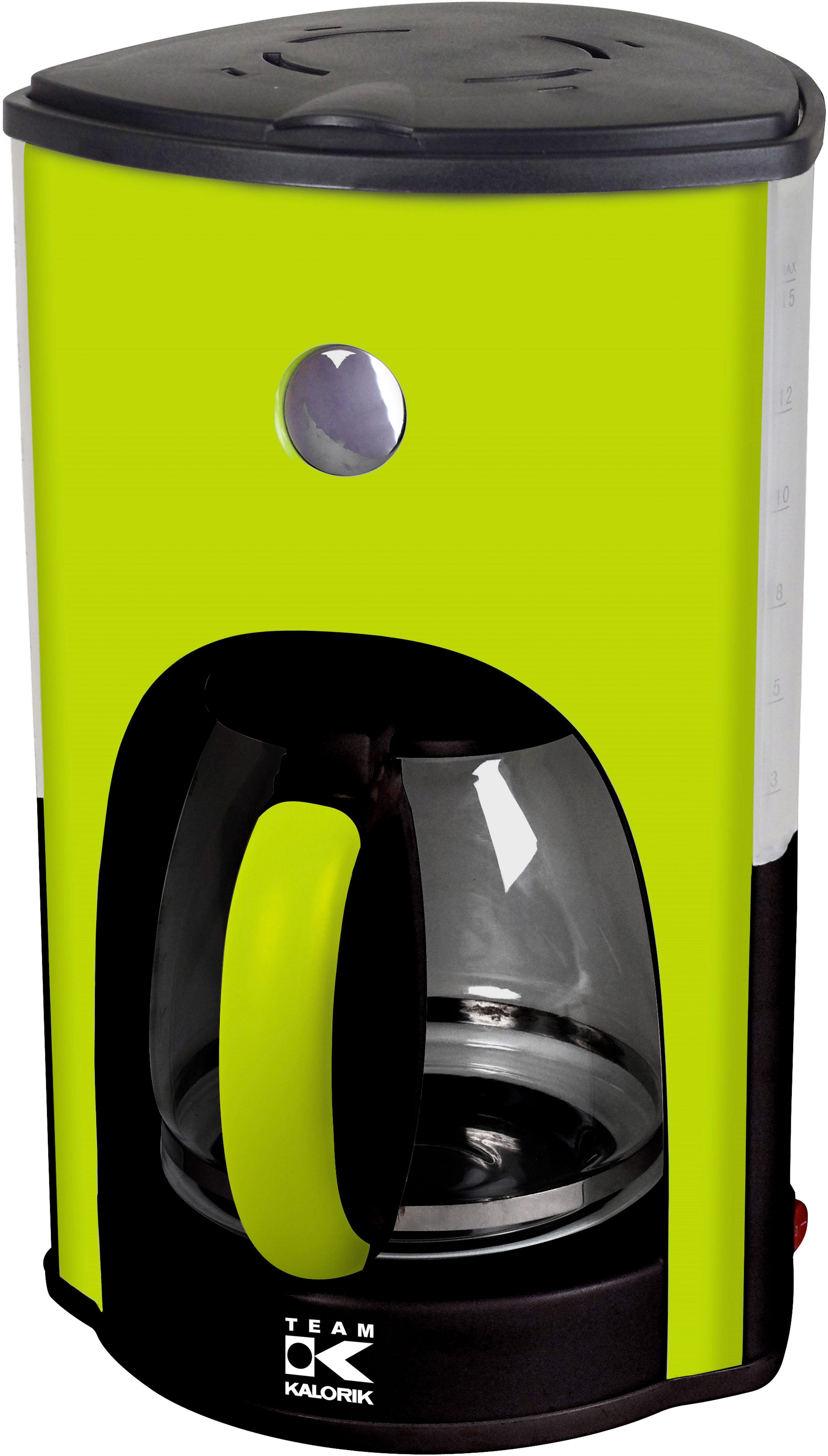 TEAM KALORIK Design Kaffeemaschine CM 1008 AG, für bis zu 15 Tassen, 1000 Watt
