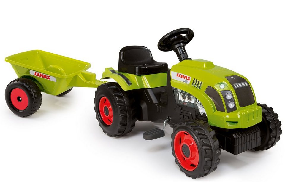 Smoby Tret-Traktor, »Claas Traktor mit Anhänger« in grün