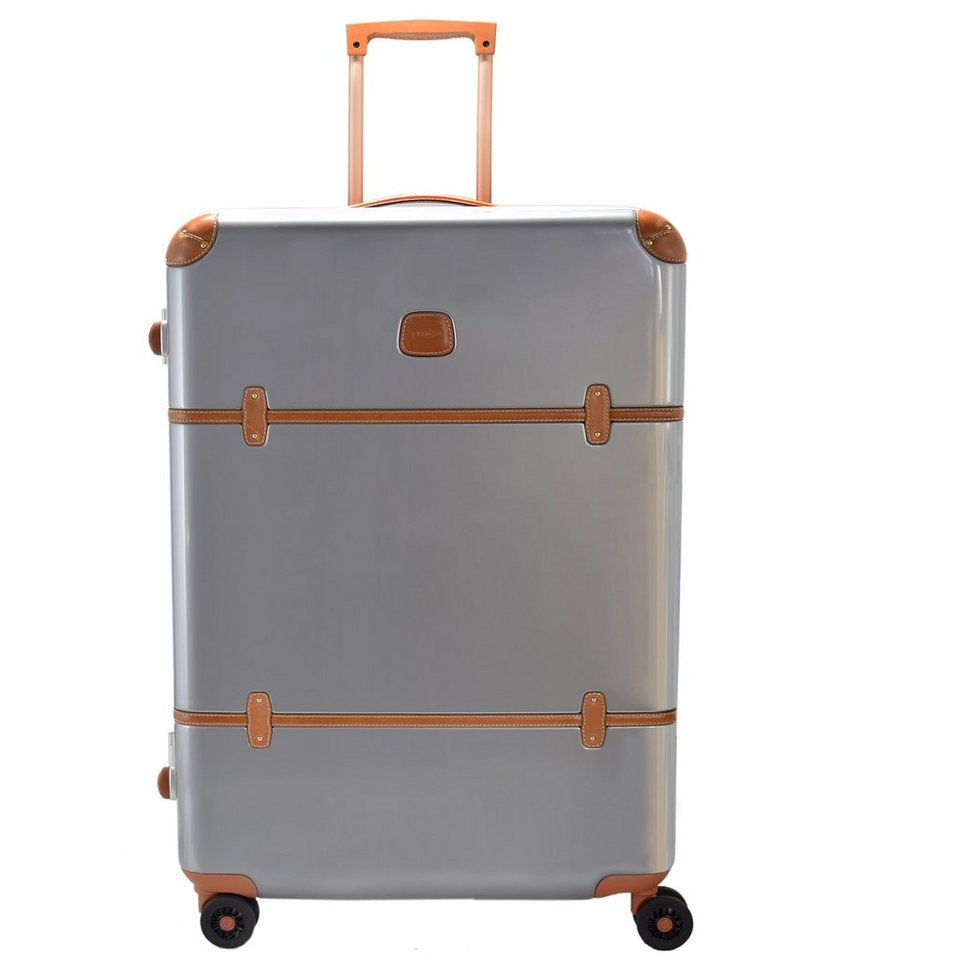 Bric's Bellagio 4-Rollen Trolley 76 cm in silberfarben