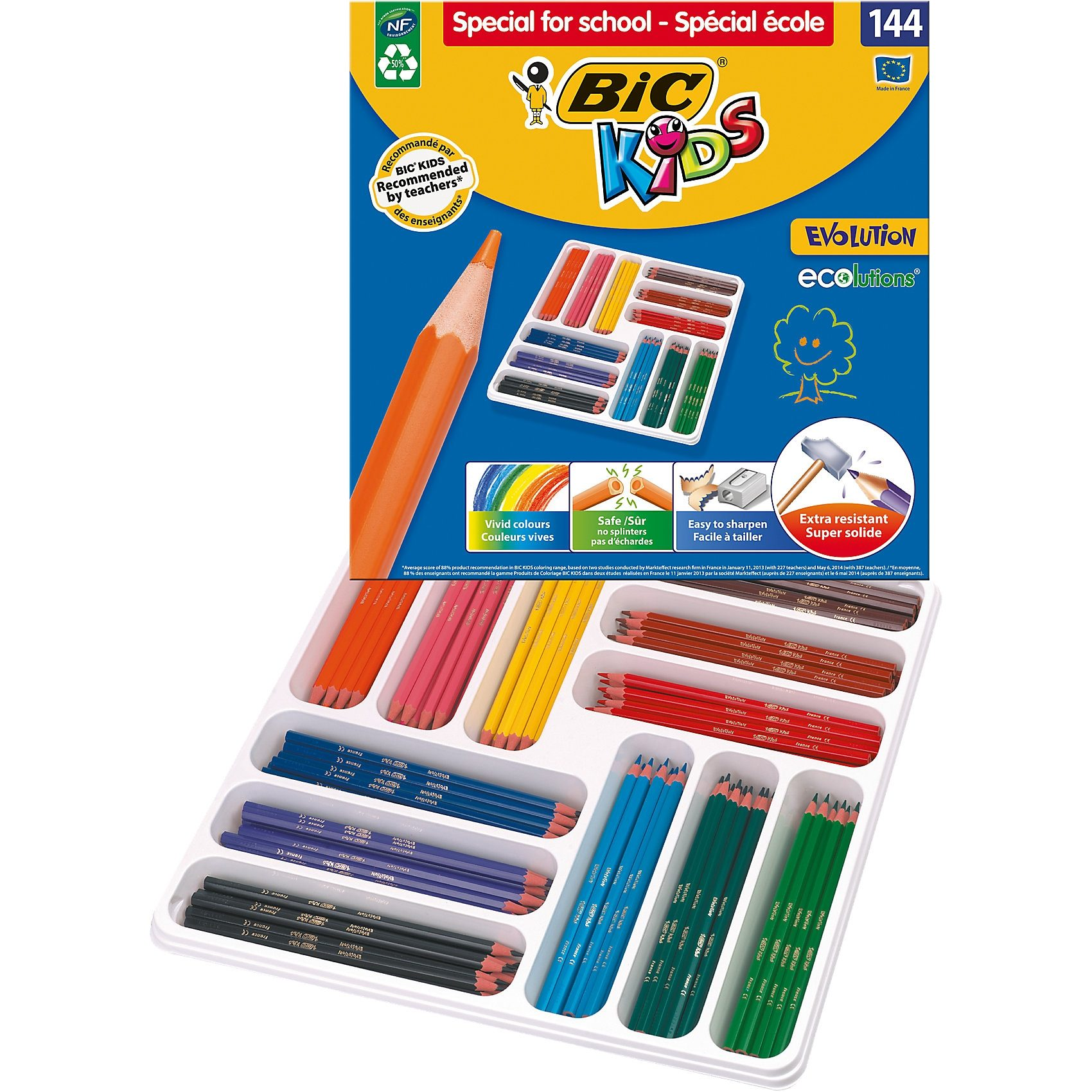 BIC Kids Evolutions Buntstifte, 144 Farben