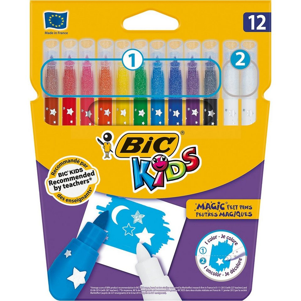 BIC Kids Zauber-Filzstifte, 10 Farben
