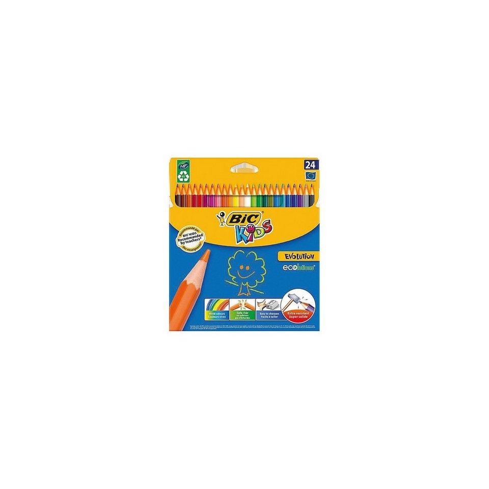 BIC Kids Evolutions Buntstifte, 24 Farben