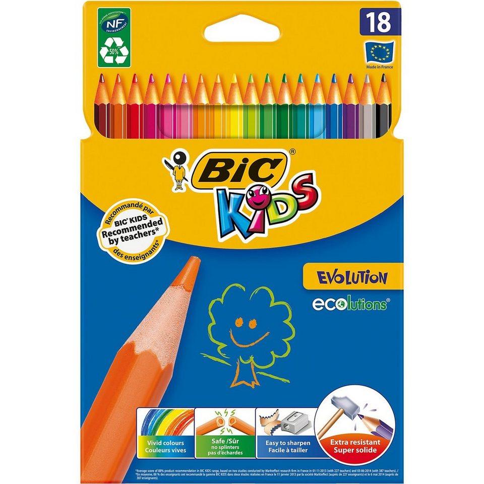 BIC Kids Evolutions Buntstifte, 18 Farben