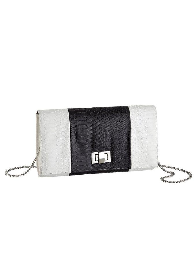 Melrose Cluch mit Colour Blocking in schwarz-weiß