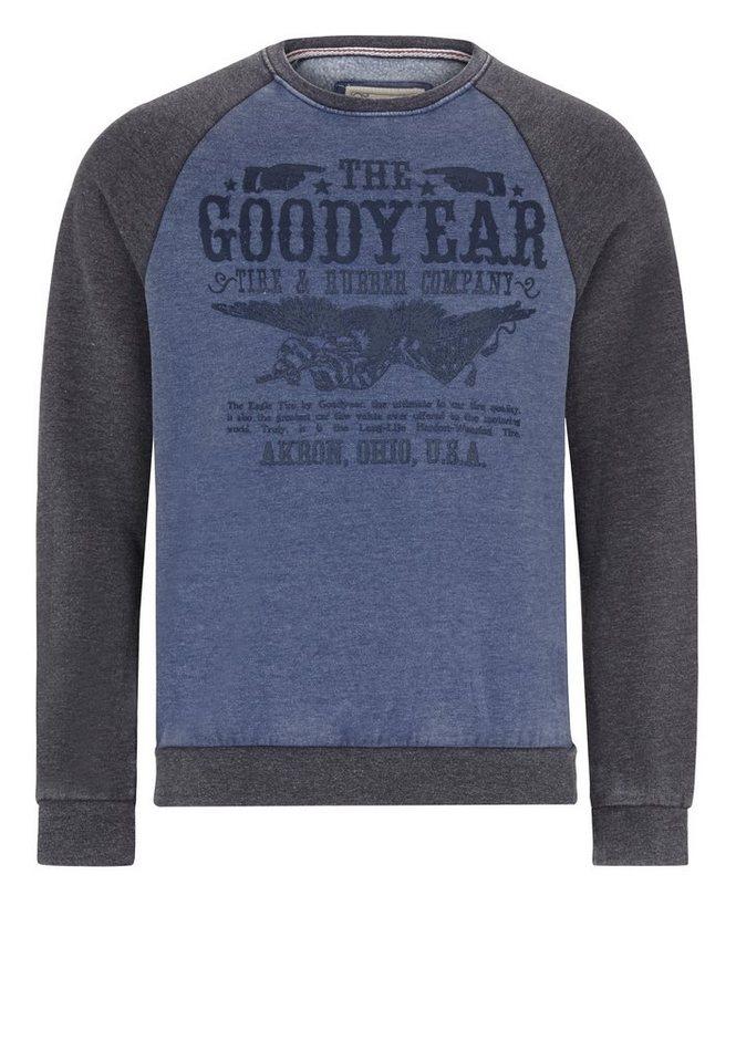 Goodyear Sweatshirt in Navy/Grey