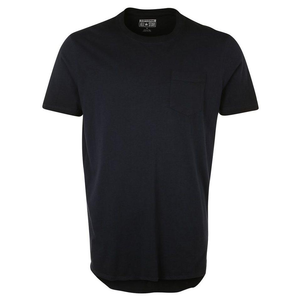 CONVERSE Black Wash Baseball T-Shirt Herren in dunkelblau / schwarz