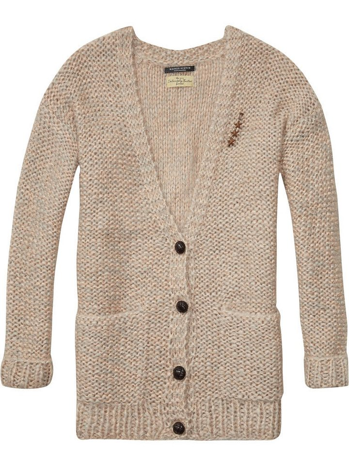 Maison Scotch Strickjacke »Chunky loose knitted cardigan« in rosa