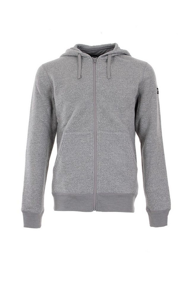 Super.Natural Merino Jacke »M COMBUSTION FLEECE HOODIE« in METAL GREY MELANGE