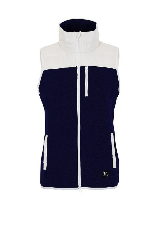 Super.Natural Merino Weste »W COMBUSTION CLOUD MAX GILET« in NAVY BLAZER MELANGE/