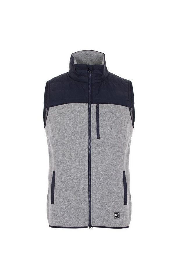 Super.Natural Merino Weste »M COMBUSTION CLOUD MAX GILET« in METAL GREY MELANGE/N