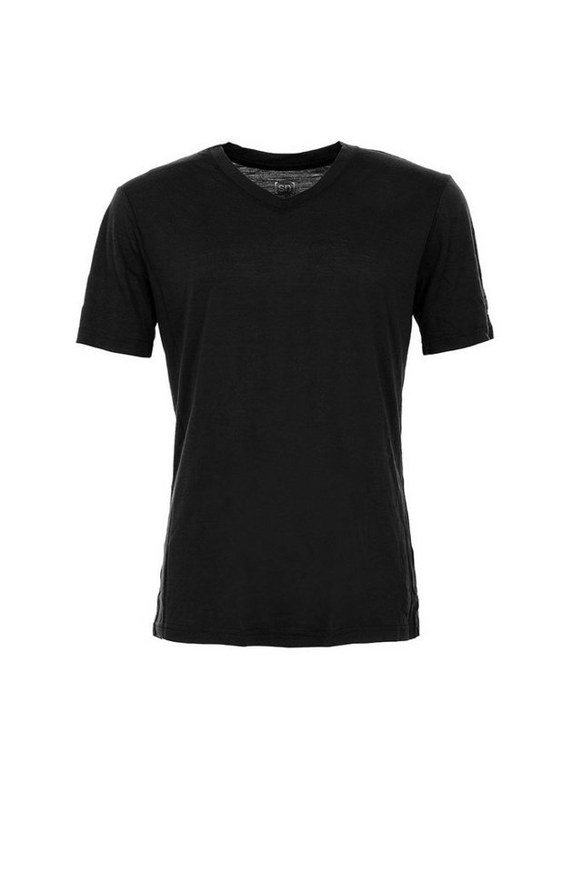 Super.Natural Merino-Shirt »M BASE V NECK TEE 140« in CAVIAR