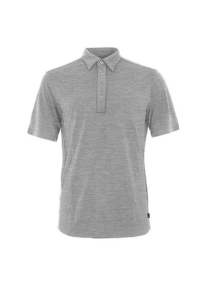 Super.Natural Merino Polo-Shirt »M POLO SS« in CLOUD