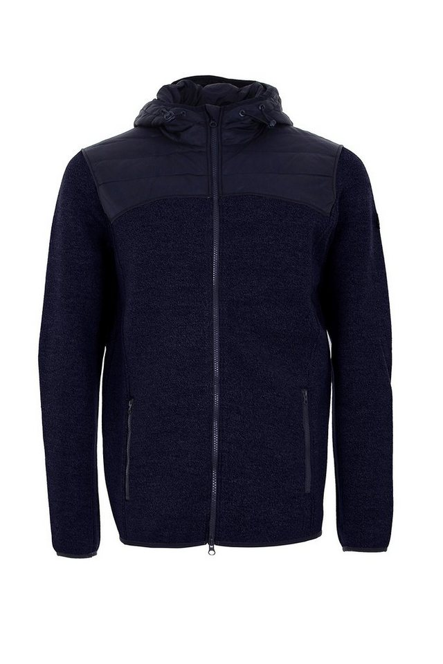 Super.Natural Merino Jacke »M COMBUSTION CLOUD HOODIE« in NAVY BLAZER MELANGE/
