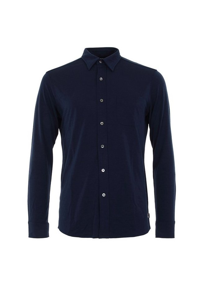 Super.Natural Merino Hemd »M BUTTON SHIRT LS« in OCEAN DEEP