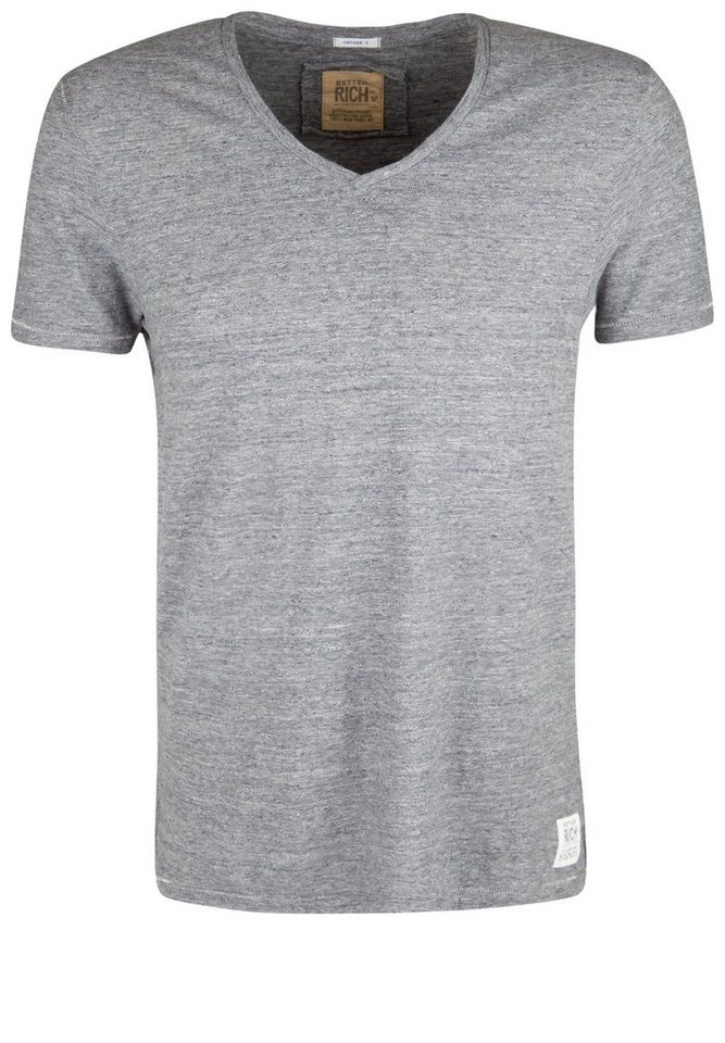 Better Rich T-Shirt »V-NECK T-SHIRT MOULINE« in feather gray