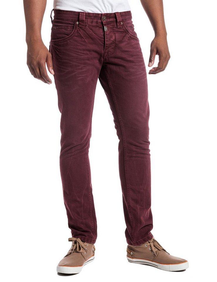 TIMEZONE Jeans »EdoTZ 5-pocket pants« in wine red