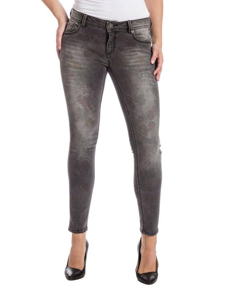 """TIMEZONE Jeans »AleenaTZ """"9179 grey flower wash""""« in grey flower wash"""