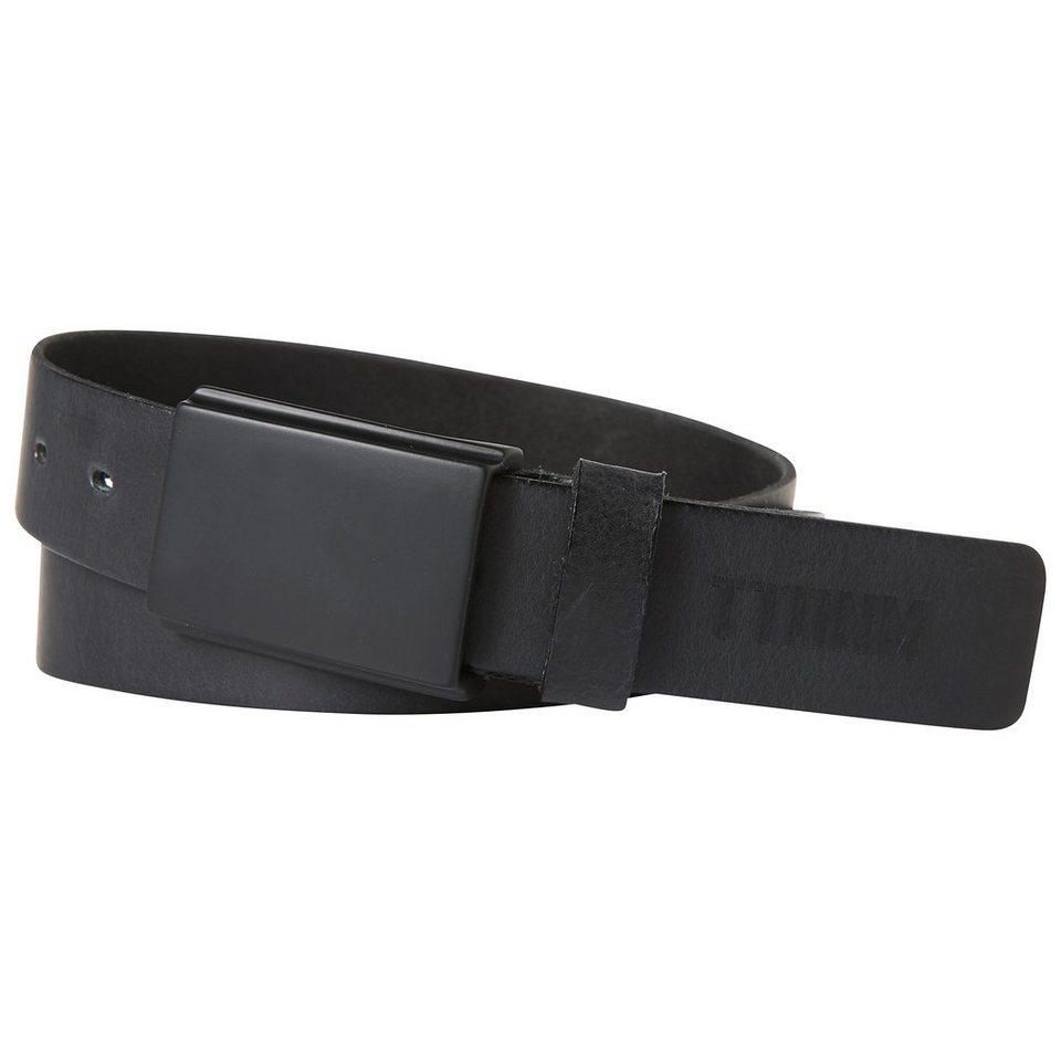 TOM TAILOR DENIM Gürtel »Schlichter Leder-Gürtel« in black