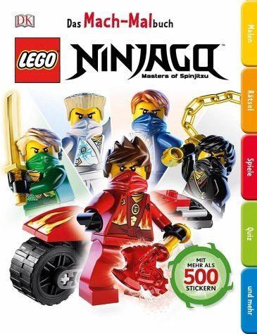 Broschiertes Buch »Das Mach-Malbuch. LEGO® NINJAGO®«