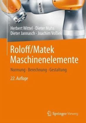 Gebundenes Buch »Roloff/Matek Maschinenelemente mit Tabellenbuch«