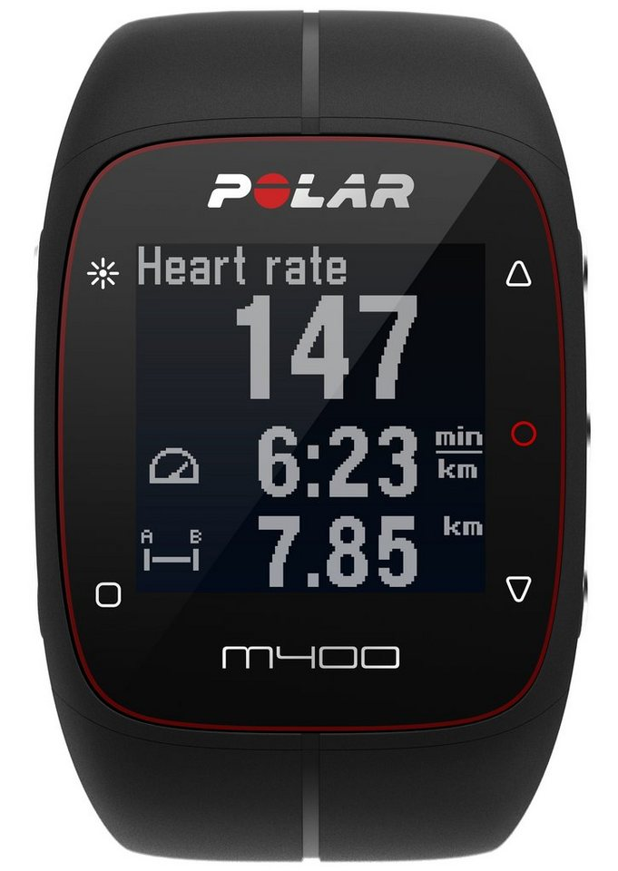 Polar GPS Sportuhr, »M400 Black HR«, inkl. Brustgurt in schwarz