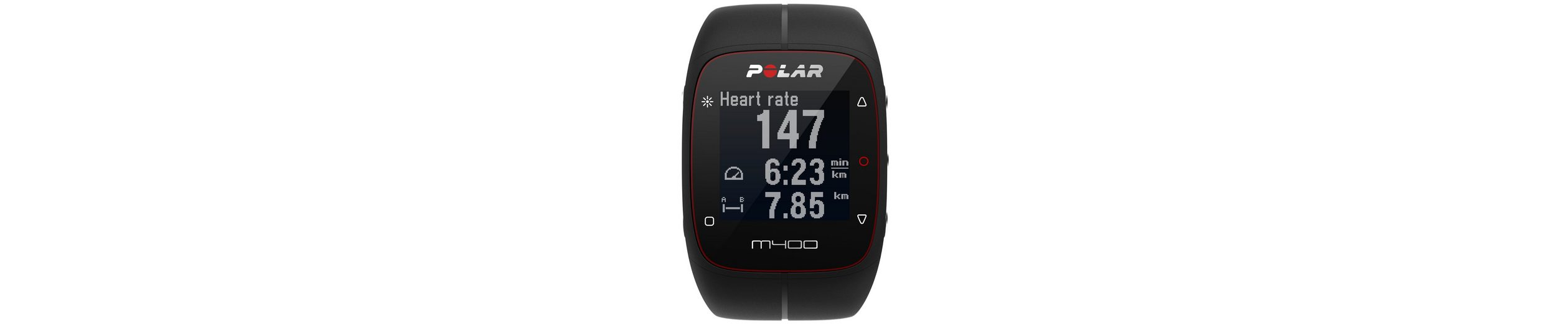 Polar GPS Sportuhr, »M400 Black HR«, inkl. Brustgurt