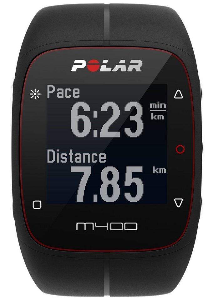 Polar GPS Sportuhr, »M400 Black« in schwarz