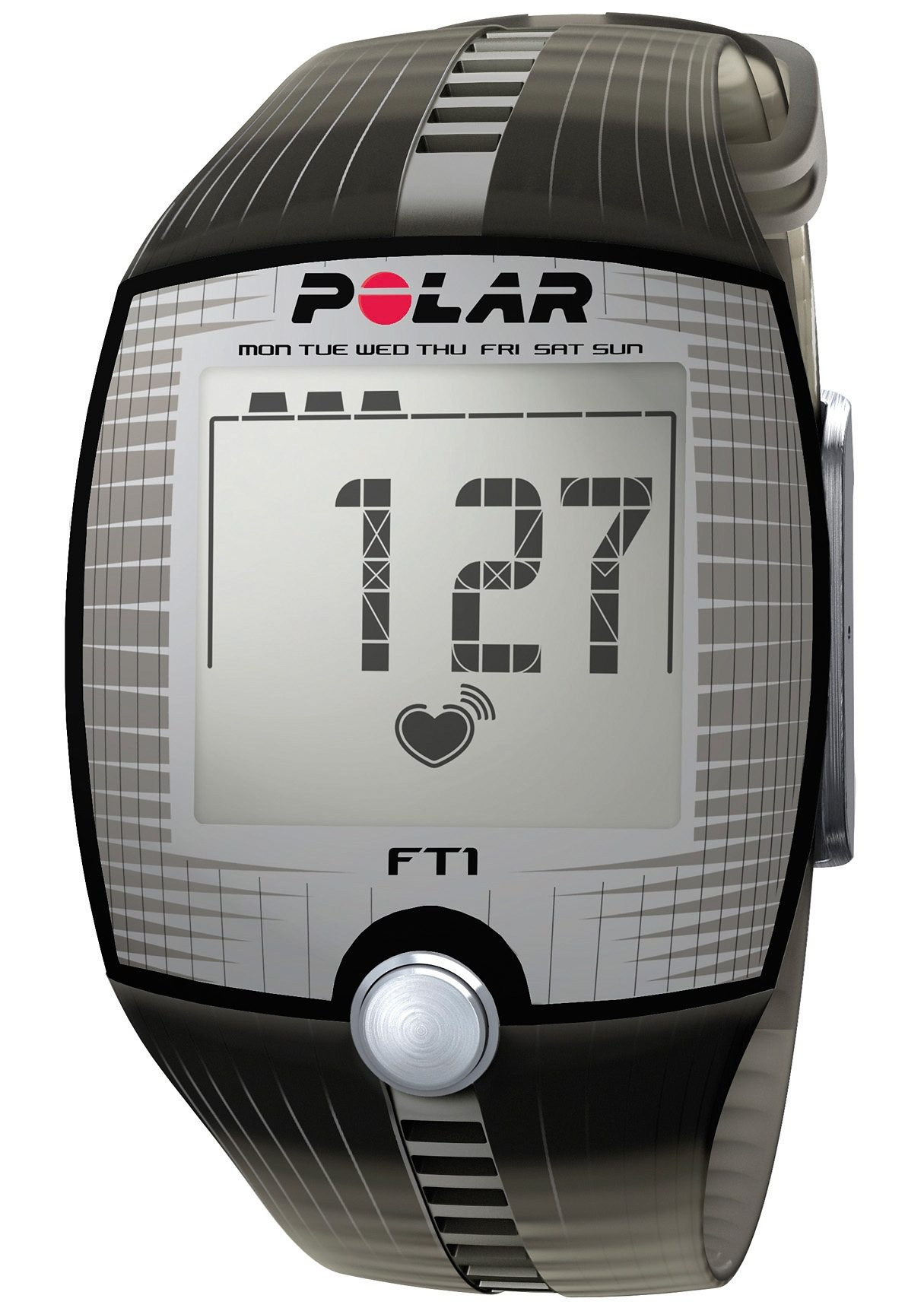 Polar Fitness Pulsuhr, »FT1 Transparent Black«, inkl. Brustgurt