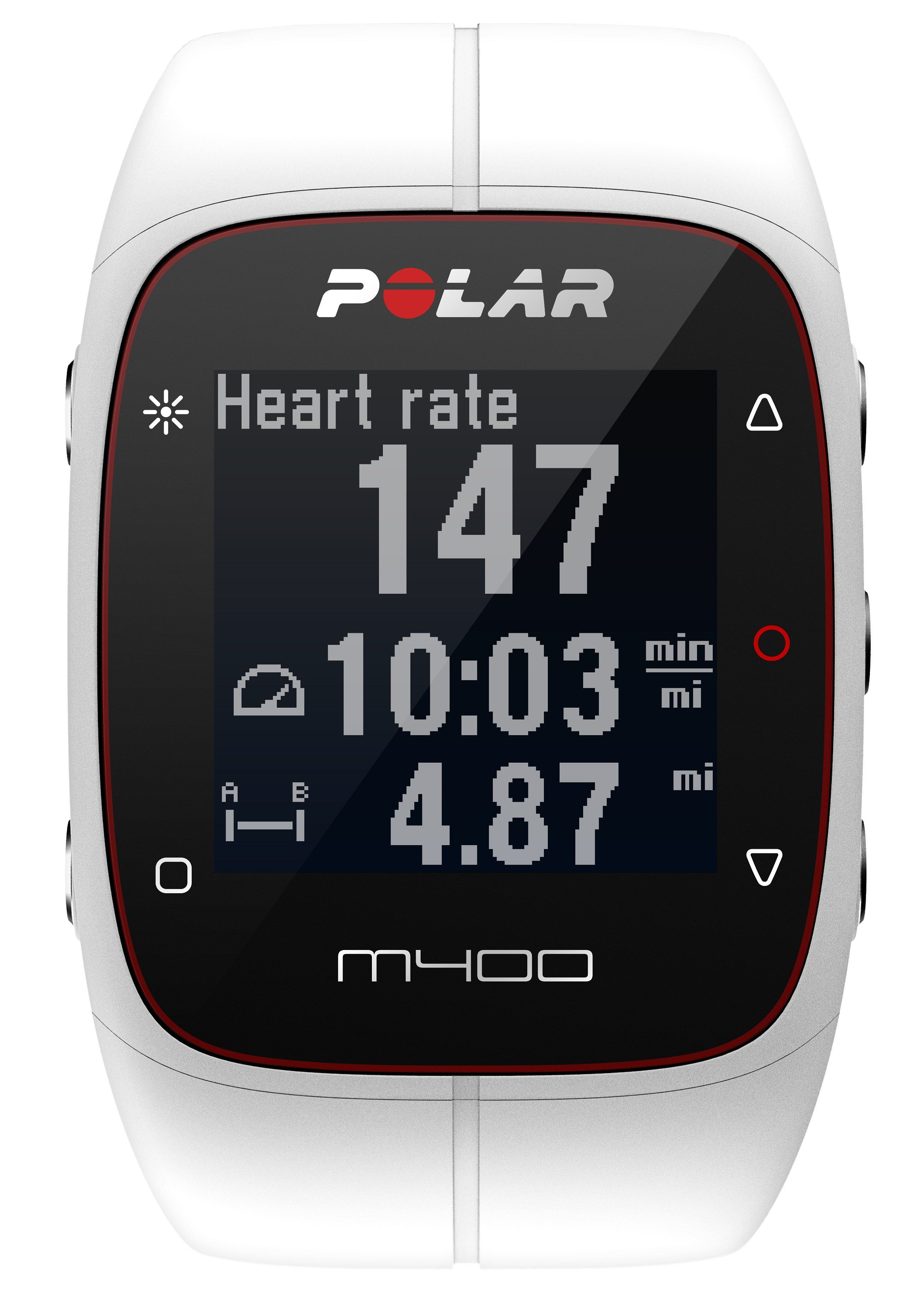 Polar GPS Sportuhr, »M400 White HR«, inkl. Brustgurt