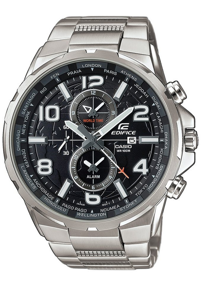 Casio Edifice Multifunktionsuhr »EFR-302D-1AVUEF« in silberfarben
