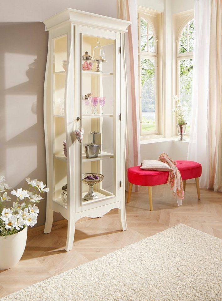 Home affaire Vitrine »Kristine«, Höhe 204 cm in cremefarben
