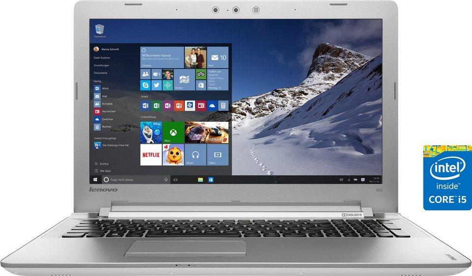 Lenovo Ideapad 500-15ISK (80NT005VGE) Notebook, Intel® Core™ i5, 39,6 cm (15,6 Zoll) in weiß/silberfarben