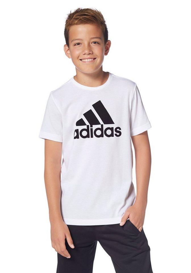 adidas Performance ESSENTIALS LOGO TEE T-Shirt in Weiß