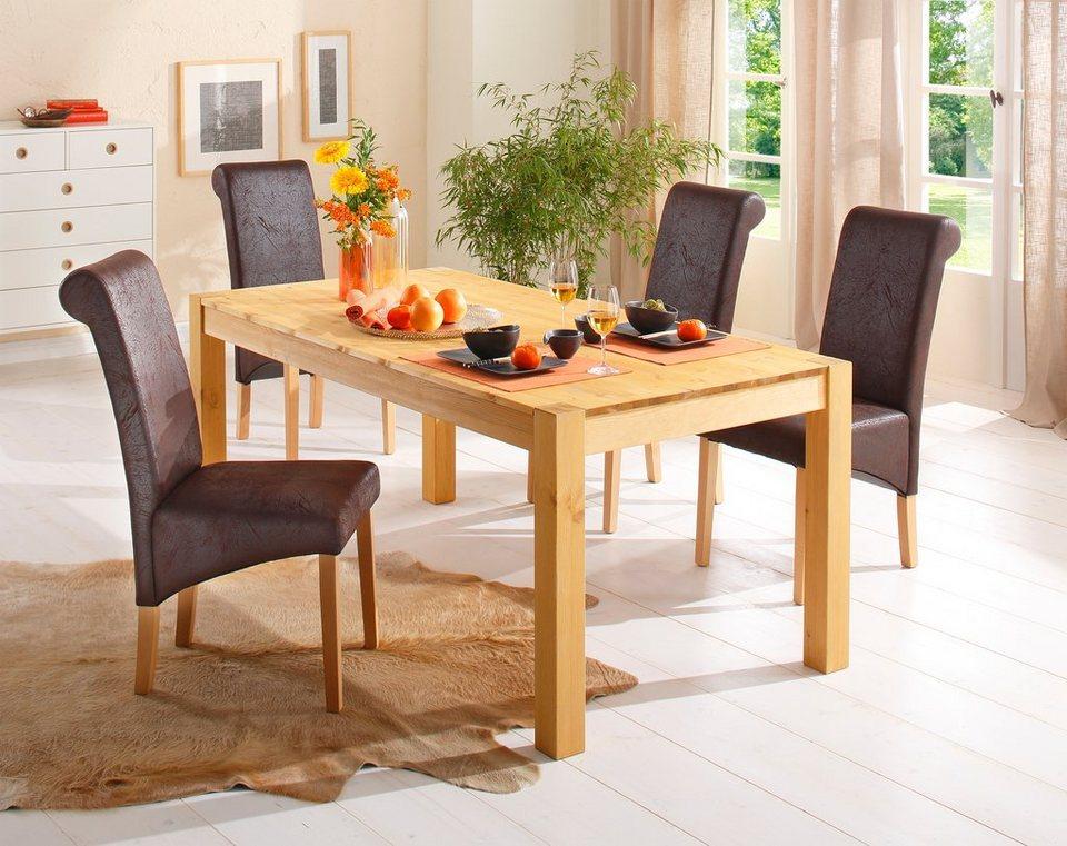 home affaire st hle rito microfaser antikbraun 2er 4er 6er set online kaufen otto. Black Bedroom Furniture Sets. Home Design Ideas