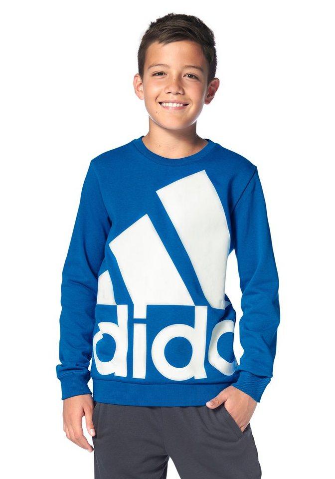 adidas Performance ESSENTIALS OVER-SIZED LOGO CREW SWEAT Sweatshirt in Blau