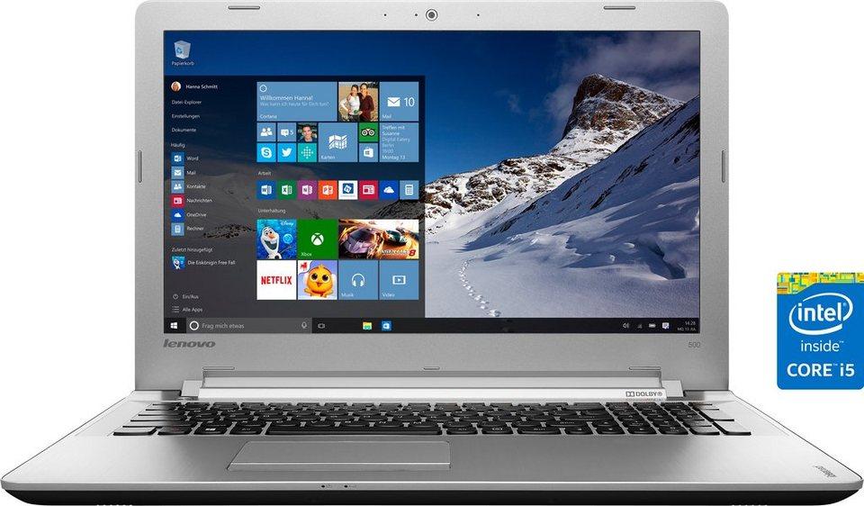 Lenovo Ideapad 500-15ISK (80NT005TGE) Notebook, Intel® Core™ i5, 39,6 cm (15,6 Zoll) in schwarz/silberfarben