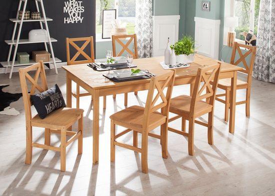 Home affaire Essgruppe »Marta«, (Set, 7-tlg), mit großem Tisch
