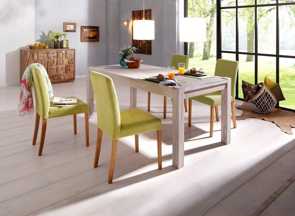 home affaire esstisch model 3 aus massiver wildeiche wei gek lkt in 5 gr en online kaufen. Black Bedroom Furniture Sets. Home Design Ideas