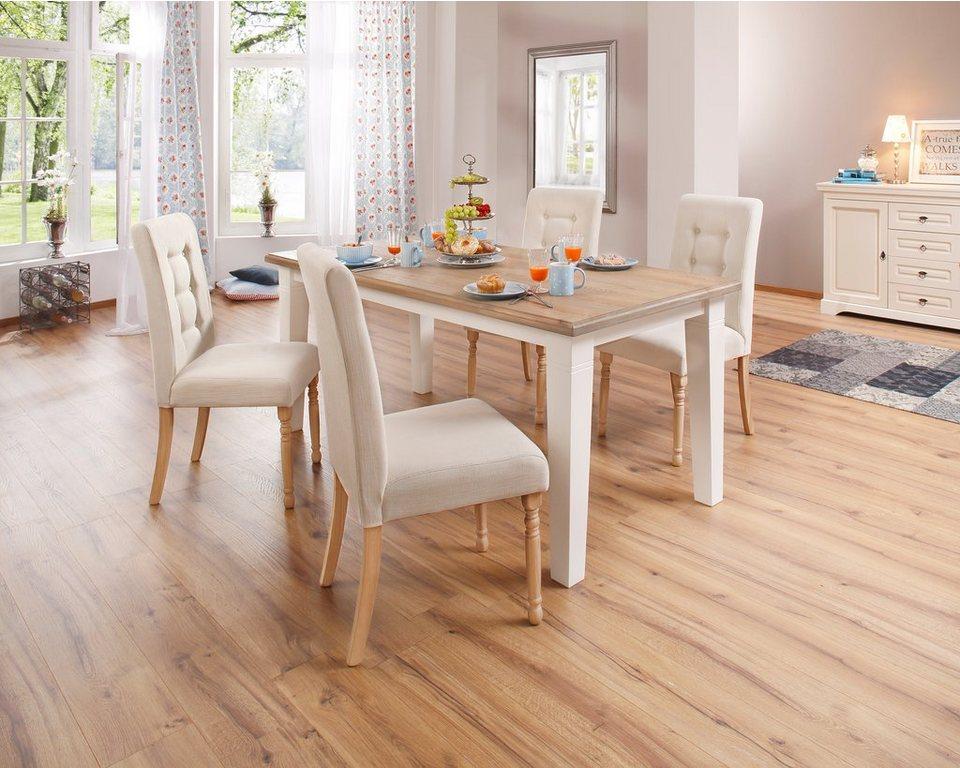 home affaire esstisch cisa mit eckigen tischbeinen in 4 breiten online kaufen otto. Black Bedroom Furniture Sets. Home Design Ideas