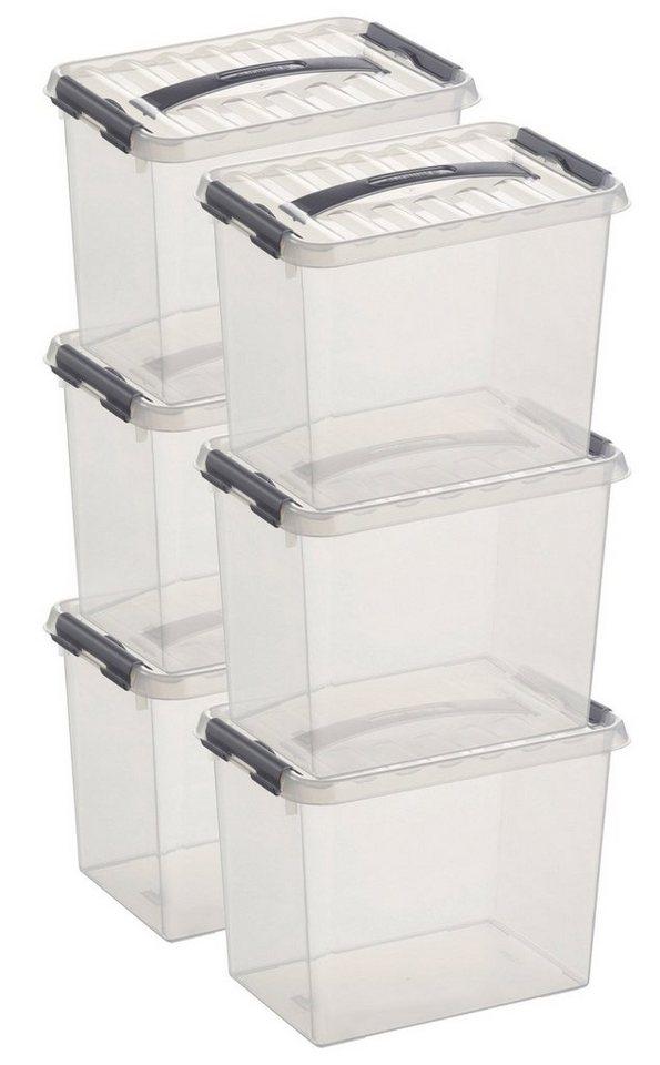 6er Set Aufbewahrungsboxen »9 Liter« in weiß